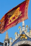 flag and coat of arms of venice