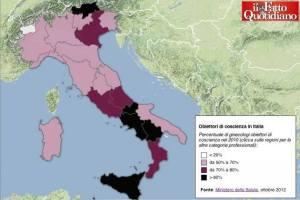 dati obiezione di coscienza in italia